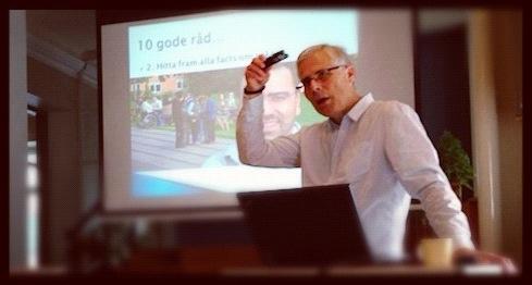 Svend Løbner från Danmark  föreläste under seminariet.
