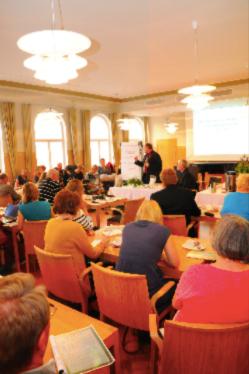 Cirka hundra personer samlades under seminariet.