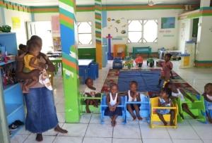 Socialcentret har ett dagis, vilket är ganska ovanligt i Guyana. Foto: Bjarne Rönnqvist