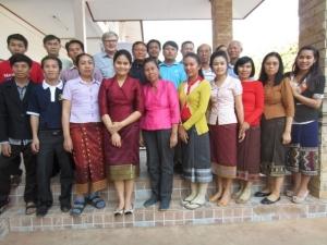 Deltagare på ledarskolningen i Laos i januari 2014.