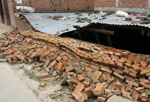 FS utsända mitt i jordskalvet