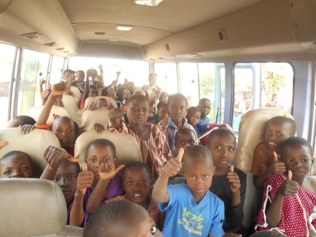 Bussen har anlänt till Dodoma